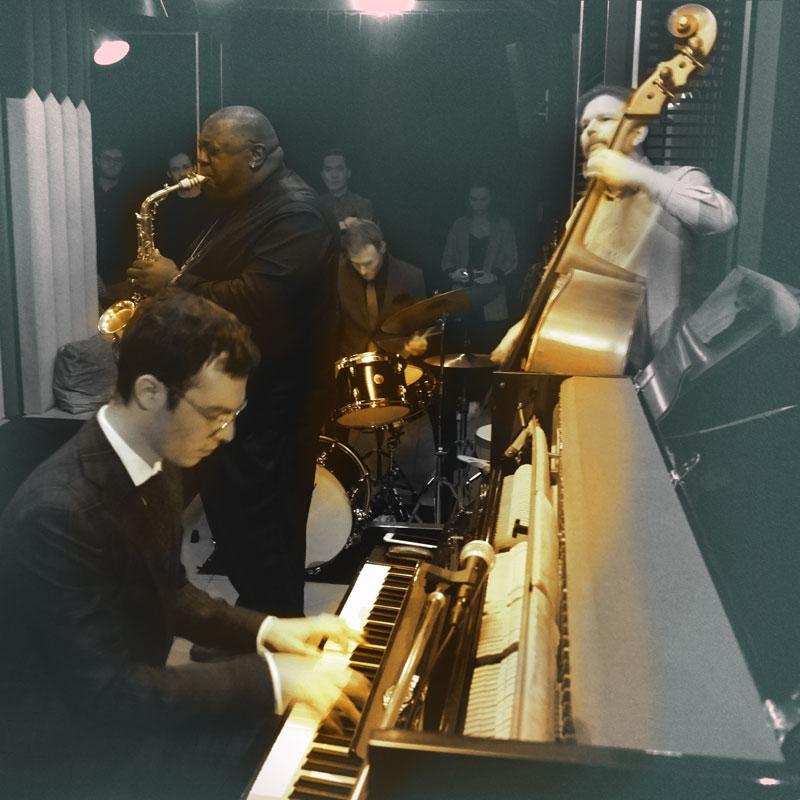 """Die """"Jazz Salon Nights"""" im Kellergewölbe des Gärtnerplatztheater mit Jesse, Davis, Martin Zenker, Xaver Hellmeier und Julian Schmdit"""