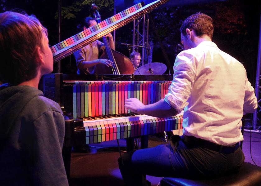 """Das Julian Schmidt Trio bei den """"Jazz Summer Nights"""" 2019 am Gasteig München"""
